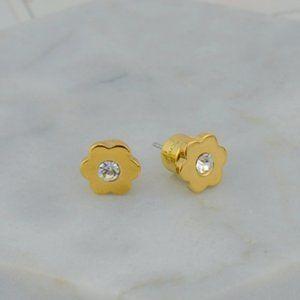Michael Kors Simple Zircon Flower Earrings